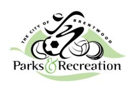 City of Brentwood Parks and Recreation logo