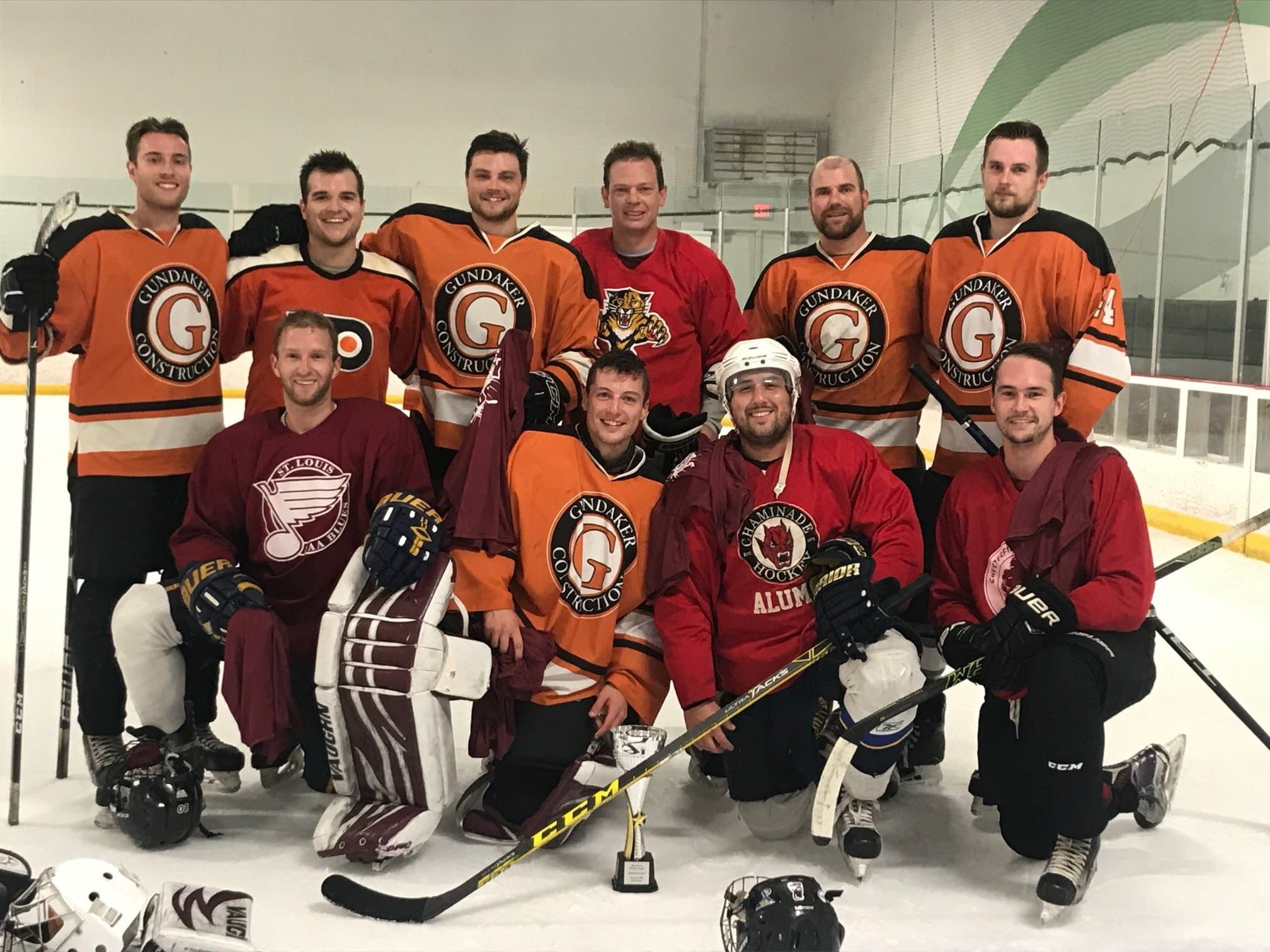 BHL Spring 18/19 Advanced League Champions: Niemann and Rourke