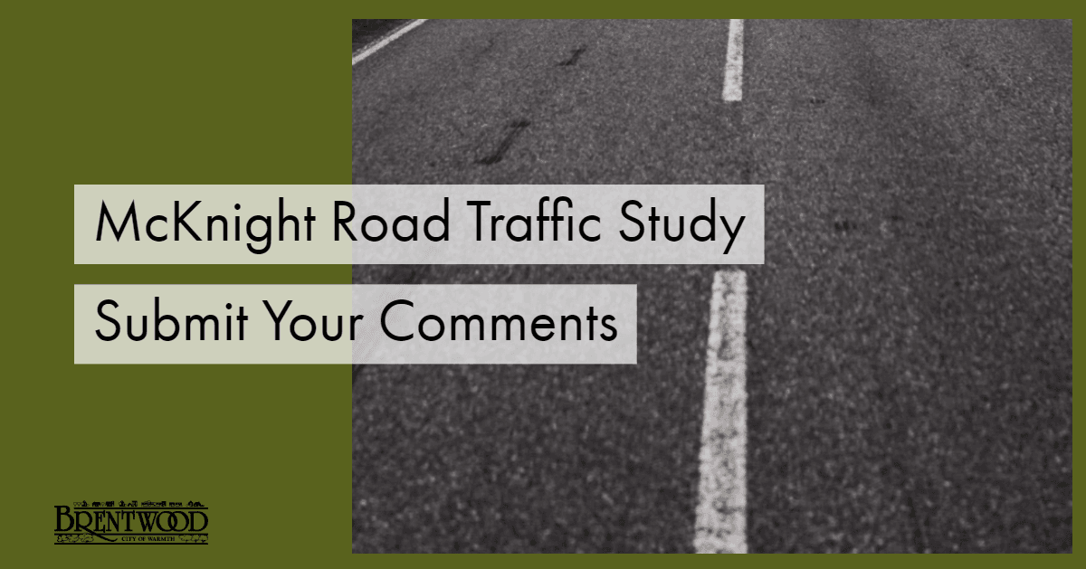 McKnight Road Comments