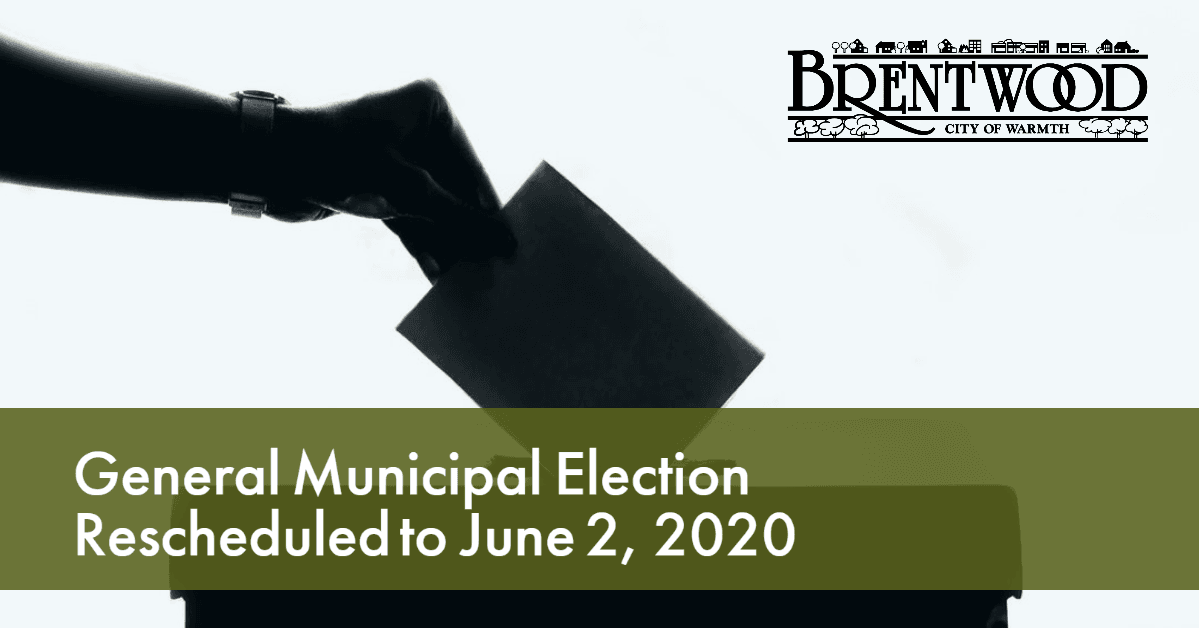 Election Rescheduled for June 2, 2020