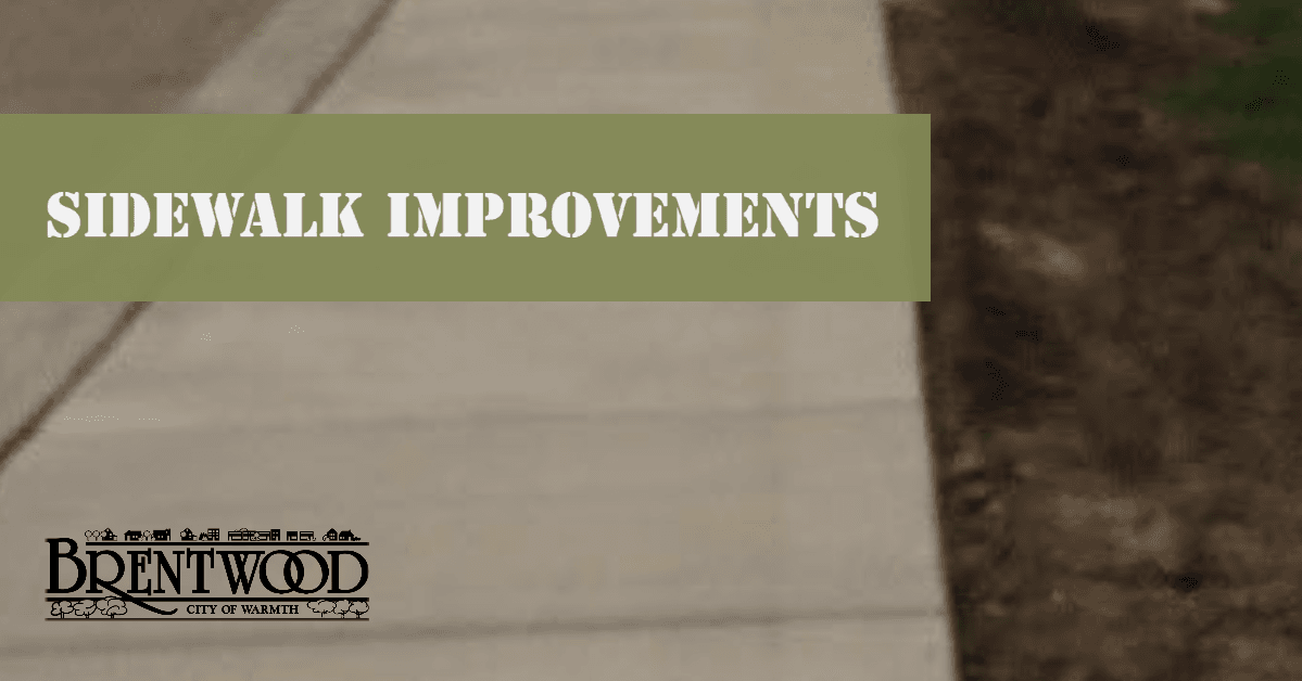Sidewalk Improvements