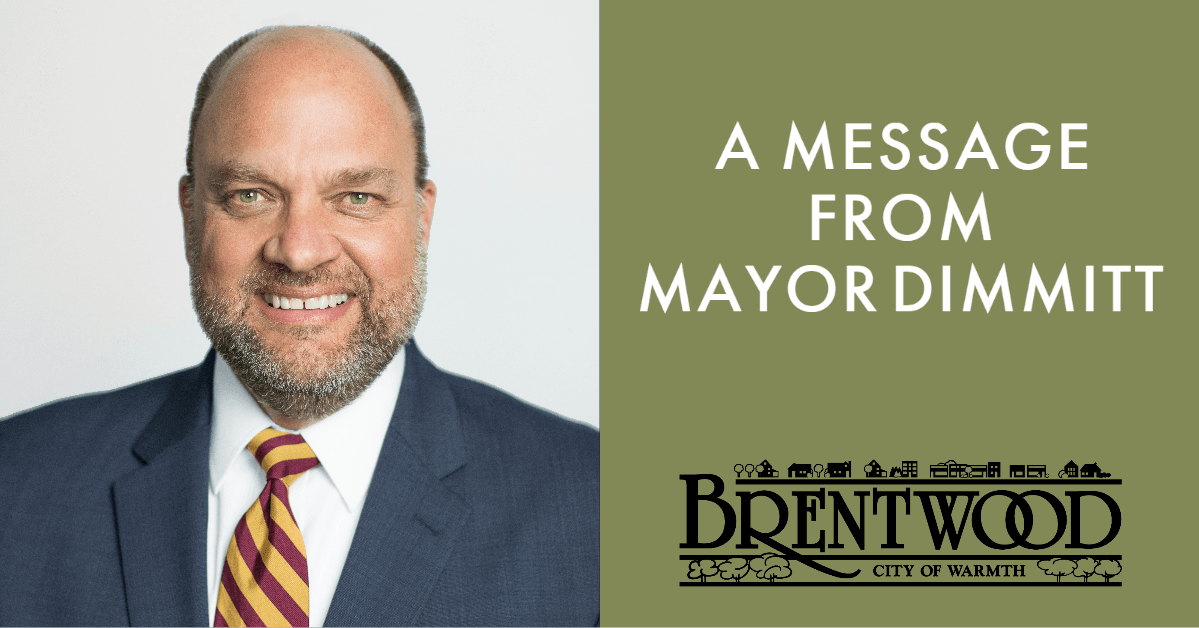 Message from Mayor Dimmitt