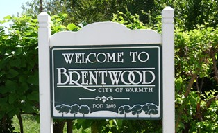 Welcome to Brentwood Sign