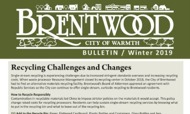 Brentwood Bulletin Winter 2019